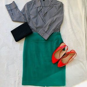 The Limited Kelley Green Pencil Skirt